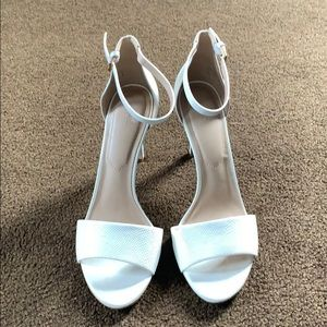 Aldo white high heel sandals